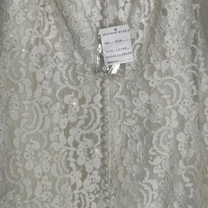 Oleg Cassini Dresses - Plus Size Tea Length Wedding Dress